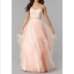 Dresses & Skirts - Illusion-Sweetheart Long Tiered-Tulle Prom Dress